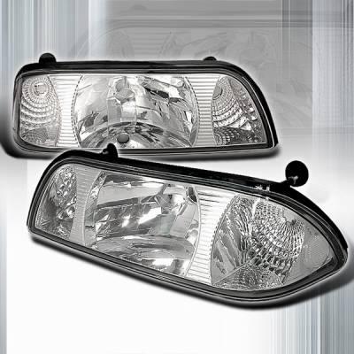 Custom Disco - Ford Mustang Custom Disco Clear Headlights - 1PC - LCLH-MUS871PC