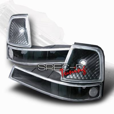 Custom Disco - Ford Ranger Custom Disco Black Corner Lights - LC-RAN98JM-KS
