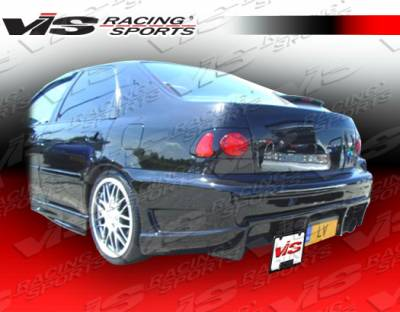 VIS Racing - Honda Civic 2DR & 4DR VIS Racing Ballistix Rear Bumper - 92HDCVC2DBX-002
