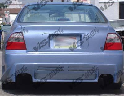 VIS Racing - Honda Civic 2DR VIS Racing Cyber Rear Bumper - 92HDCVC2DCY-002
