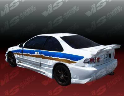 VIS Racing - Honda Civic 2DR & 4DR VIS Racing XGT Rear Bumper - 92HDCVC2DXGT-002