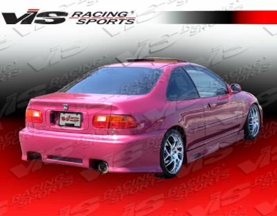 VIS Racing - Honda Civic 2DR & 4DR VIS Racing Z1 boxer Rear Bumper - 92HDCVC2DZ1-002
