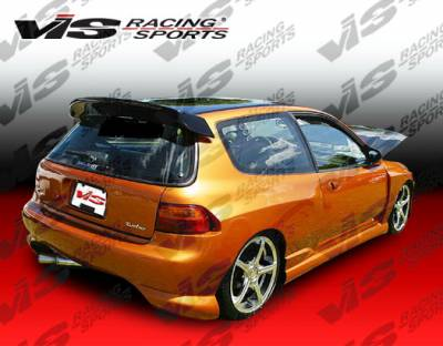 VIS Racing - Honda Civic HB VIS Racing Ballistix Rear Bumper - 92HDCVCHBBX-002