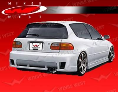 VIS Racing - Honda Civic HB VIS Racing JPC Type A Rear Bumper - 92HDCVCHBJPCA-002