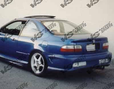VIS Racing - Honda Civic HB VIS Racing Kombat-2 Rear Bumper - 92HDCVCHBKOM2-002