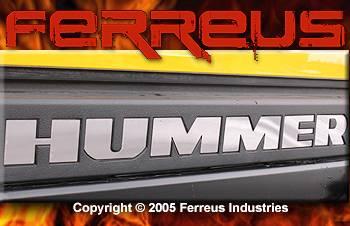 Custom - H2 Rear Bumper Chrome Letters