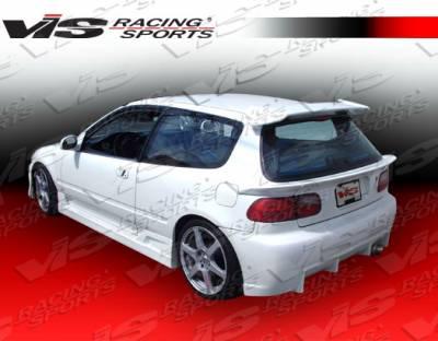 VIS Racing - Honda Civic HB VIS Racing TSC Rear Bumper - 92HDCVCHBTSC-002
