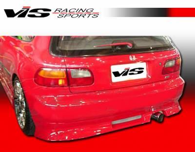 VIS Racing - Honda Civic HB VIS Racing V Speed Rear Bumper - 92HDCVCHBVSP-002