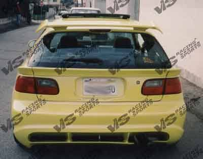 VIS Racing - Honda Civic HB VIS Racing Wizdom Rear Bumper - 92HDCVCHBWZ-002