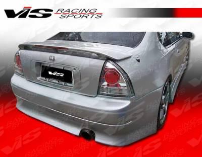 VIS Racing - Honda Prelude VIS Racing V Speed Rear Bumper - 92HDPRE2DVSP-002