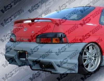 VIS Racing - Toyota Paseo VIS Racing Ballistix Rear Bumper - 92TYPAS2DBX-002