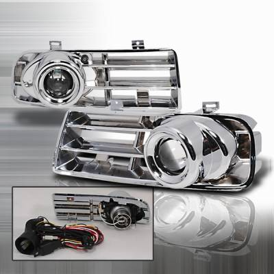 Custom Disco - Volkswagen Golf Custom Disco Chrome Projector Fog Lights - LF-PGLF-99-YD