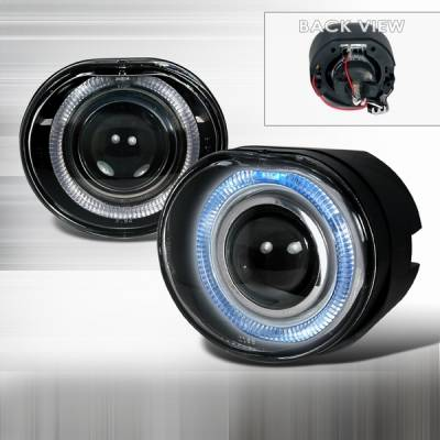 Custom Disco - Jeep Liberty Custom Disco Halo Projector Fog Lights - LF-PLIB02-TM