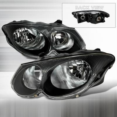 Custom Disco - Chrysler 300 Custom Disco Black Crystal Headlights - LH-300M99JM-KS