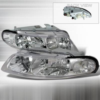 Custom Disco - Dodge Avenger Custom Disco Clear Crystal Headlights - LH-AVG97-DP