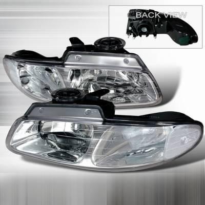 Custom Disco - Dodge Caravan Custom Disco Clear Crystal Headlights - LH-CAR96-DP