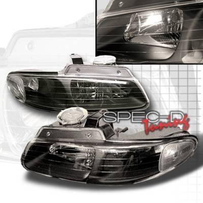 Custom Disco - Dodge Caravan Custom Disco Black Headlights - LH-CAR96JM-KS