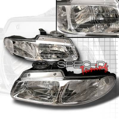Custom Disco - Dodge Caravan Custom Disco Chrome Headlights - LH-CAR96-KS