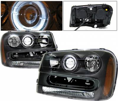 4 Car Option - Chevrolet Trail Blazer 4 Car Option Halo Projector Headlights - Black - LP-CTB02BC-KS