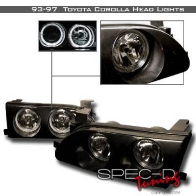 Custom Disco - Toyota Corolla Custom Disco Halo Headlights - LH-COR93BH