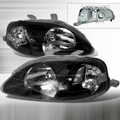 Custom Disco - Honda Civic Custom Disco JDM Black Headlights - LH-CV99JM