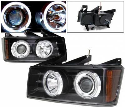 4 Car Option - Chevrolet Colorado 4 Car Option Halo Projector Headlights - Black CCFL - LP-CVCO04BC-KS-CCFL
