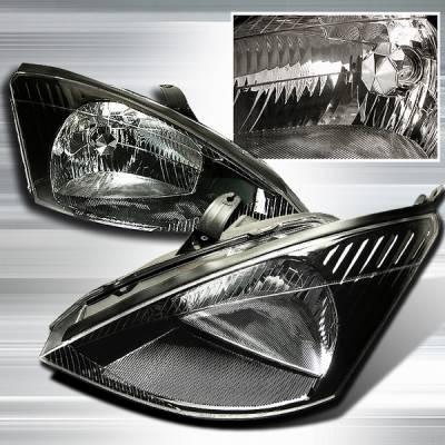 Custom Disco - Ford Focus Custom Disco JDM Black Headlights - LH-FOC00JM-KS