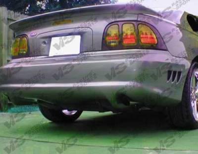 VIS Racing - Ford Mustang VIS Racing Stalker Rear Bumper - Urethane - 94FDMUS2DSTK-002P