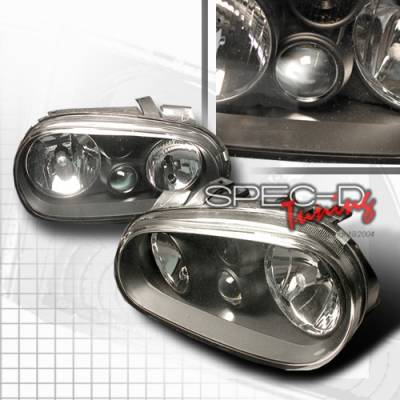 Custom Disco - Volkswagen Golf Custom Disco JDM Black Headlights - LH-GLF99JM-DP