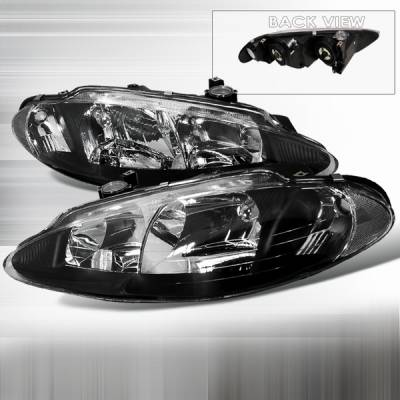 Custom Disco - Dodge Intrepid Custom Disco Black Headlights - LH-ITRE98JM-KS