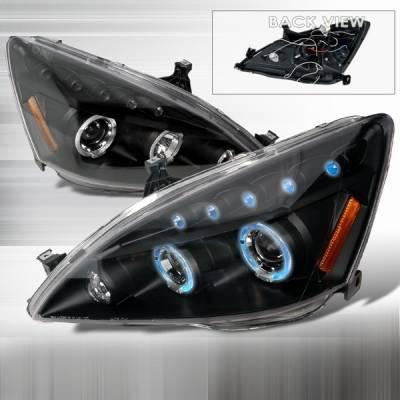 Custom Disco - Honda Accord Custom Disco Black Projector Headlights - LHP-ACD03JM-TM
