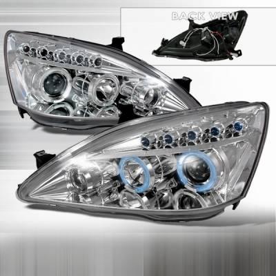 Custom Disco - Honda Accord Custom Disco Chrome Projector Headlights - LHP-ACD03-TM