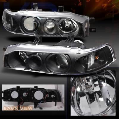 Custom Disco - Honda Accord Custom Disco Black Projector Headlights - LHP-ACD90JM-KS