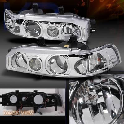 Custom Disco - Honda Accord Custom Disco Clear Projector Headlights - LHP-ACD90-KS
