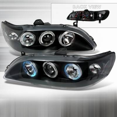 Custom Disco - Honda Accord Custom Disco Black Projector Headlights - 1PC - LHP-ACD98JM