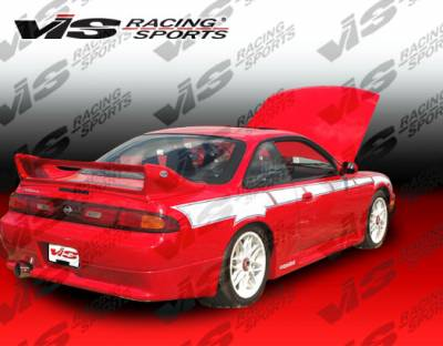 VIS Racing - Nissan 240SX VIS Racing Techno R Rear Bumper - 95NS2402DTNR-002