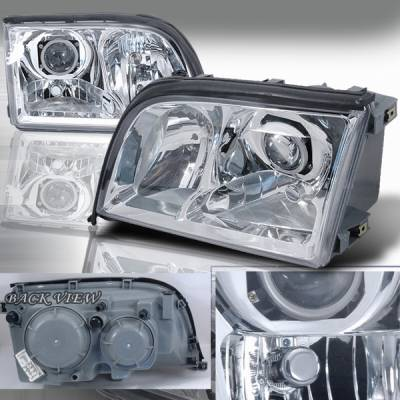 Custom Disco - Mercedes-Benz S Class Custom Disco Projector Headlights - LHP-BW14092-APC