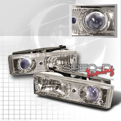 Custom Disco - Chevrolet C10 Custom Disco Clear Projector Headlights - LHP-C1088B