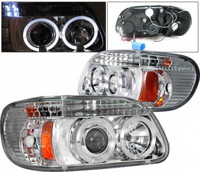 4 Car Option - Ford Explorer 4 Car Option Halo Projector Headlights - Chrome - LP-FEXPR95CC-YD