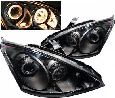 4 Car Option - Ford Focus 4 Car Option Dual Halo Projector Headlights - Black - LP-FF00BB