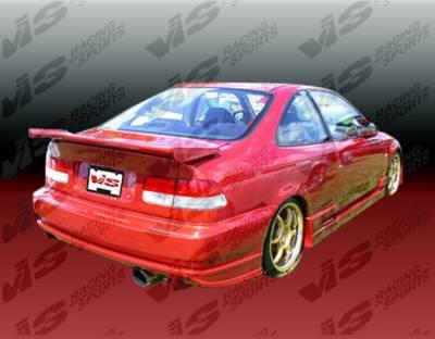 VIS Racing. - Honda Civic 2DR & 4DR VIS Racing Ballistix Rear Bumper - 96HDCVC2DBX-002