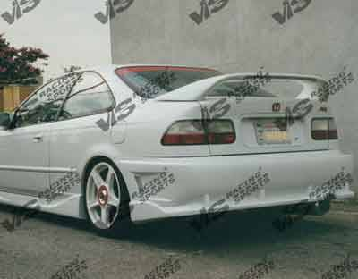 VIS Racing - Honda Civic 2DR & 4DR VIS Racing Evolution Rear Bumper - 96HDCVC2DEVO-002