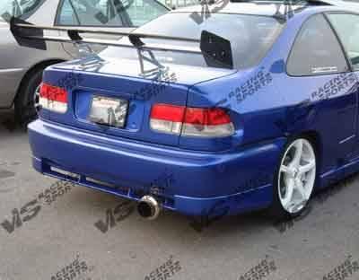 VIS Racing - Honda Civic 2DR & 4DR VIS Racing Techno R Rear Bumper - 96HDCVC2DTNR-002