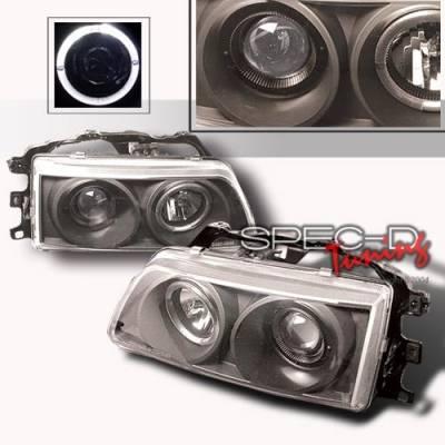 Custom Disco - Honda CRX Custom Disco Black Projector Headlights - LHP-CRX90JM