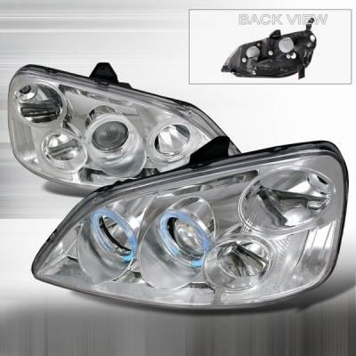 Custom Disco - Honda Civic Custom Disco Chrome Projector Headlights - LHP-CV01-KS