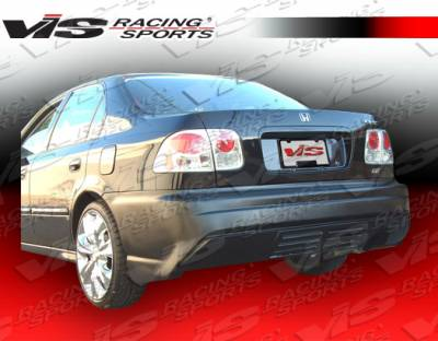 VIS Racing - Honda Civic 2DR & 4DR VIS Racing XGT Rear Bumper - 96HDCVC2DXGT-002