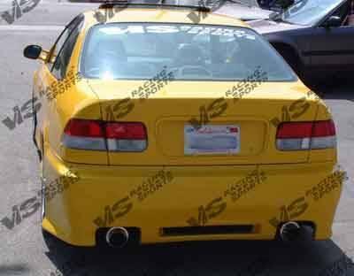 VIS Racing - Honda Civic 2DR & 4DR VIS Racing Z1 boxer Rear Bumper - 96HDCVC2DZ1-002
