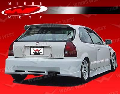 VIS Racing - Honda Civic HB VIS Racing JPC A Rear Bumper - 96HDCVCHBJPCA-002
