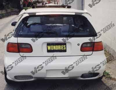 VIS Racing - Honda Civic HB VIS Racing Kombat-1 Rear Bumper - 96HDCVCHBKOM1-002