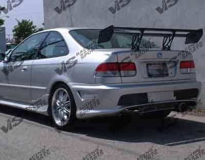 VIS Racing - Honda Civic HB VIS Racing Kombat-2 Rear Bumper - 96HDCVCHBKOM2-002